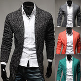 Men's New Style Open Long Cardigan