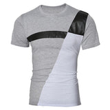 New Men's Fashion Color Block Tee