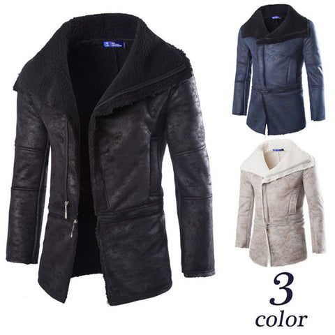Faux Shearling Fur Men's Fashion Coat