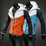 Color Block Zip Windbreaker Jacket