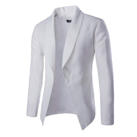 Button-less Men's Fashion Cardigan Style Blazer