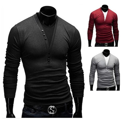 Two Layered Design Men's Fashion T-Shirt