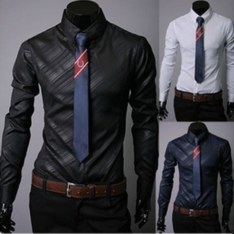 Slim Fit New Pattern Design Men's Dress Shirt