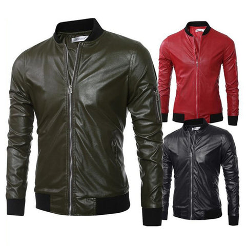 Bomber Leather Zip Jacket
