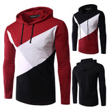 Color Blocked Men's Fashion Tee with Hood