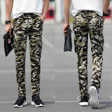 Street Style Slim Camouflage Cargo Pants