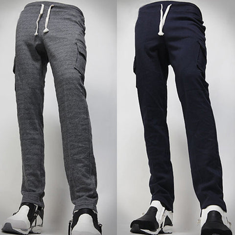 Cargo Pockets Design Men's Sweat Pants