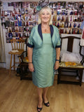 Mother of the bride  outfit (Reversible Balero & knee lenth dress)