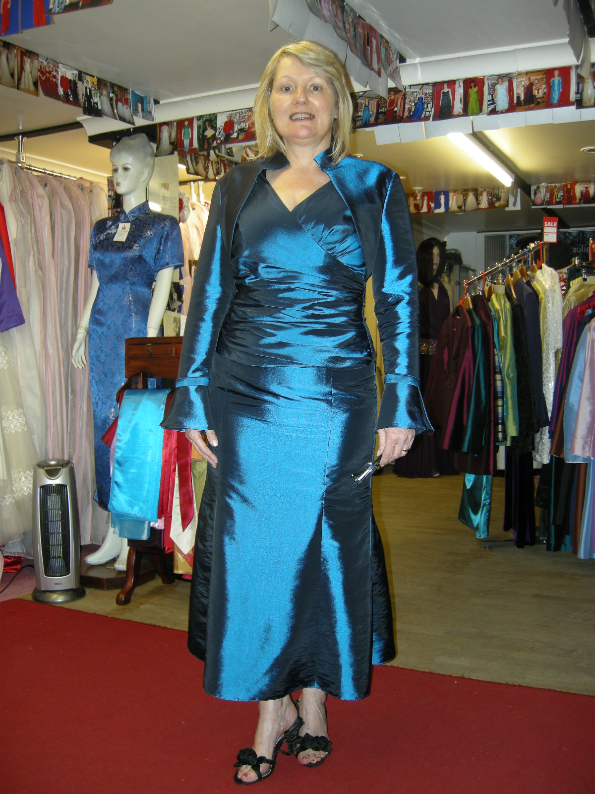 Mother of the bride bespoke Taffeta bolero and dress