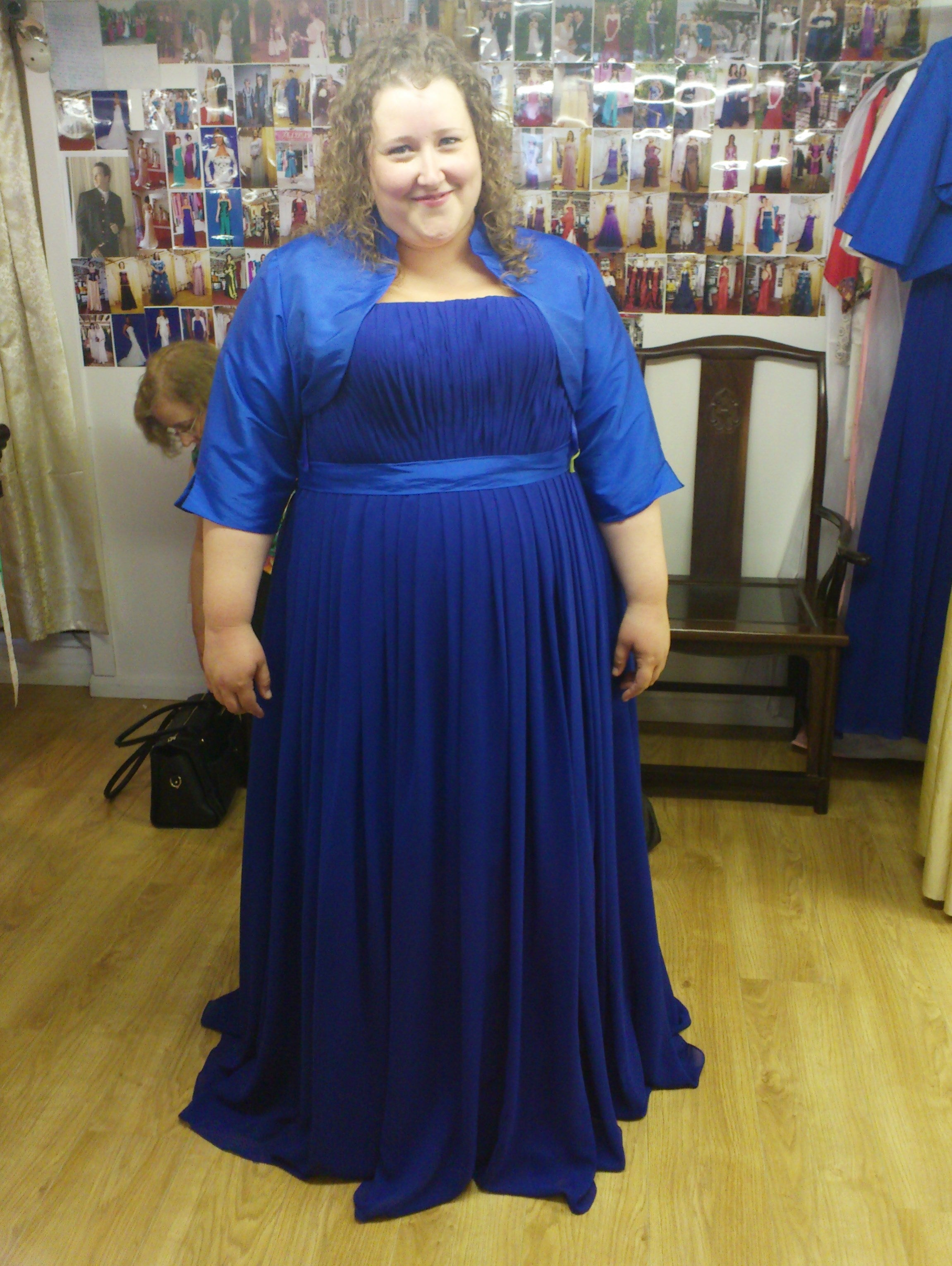 Plus size chief bridesmaid dress