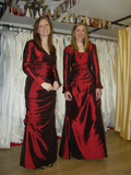 Bridesmaid Dress ,with taffeta long sleeves bolero