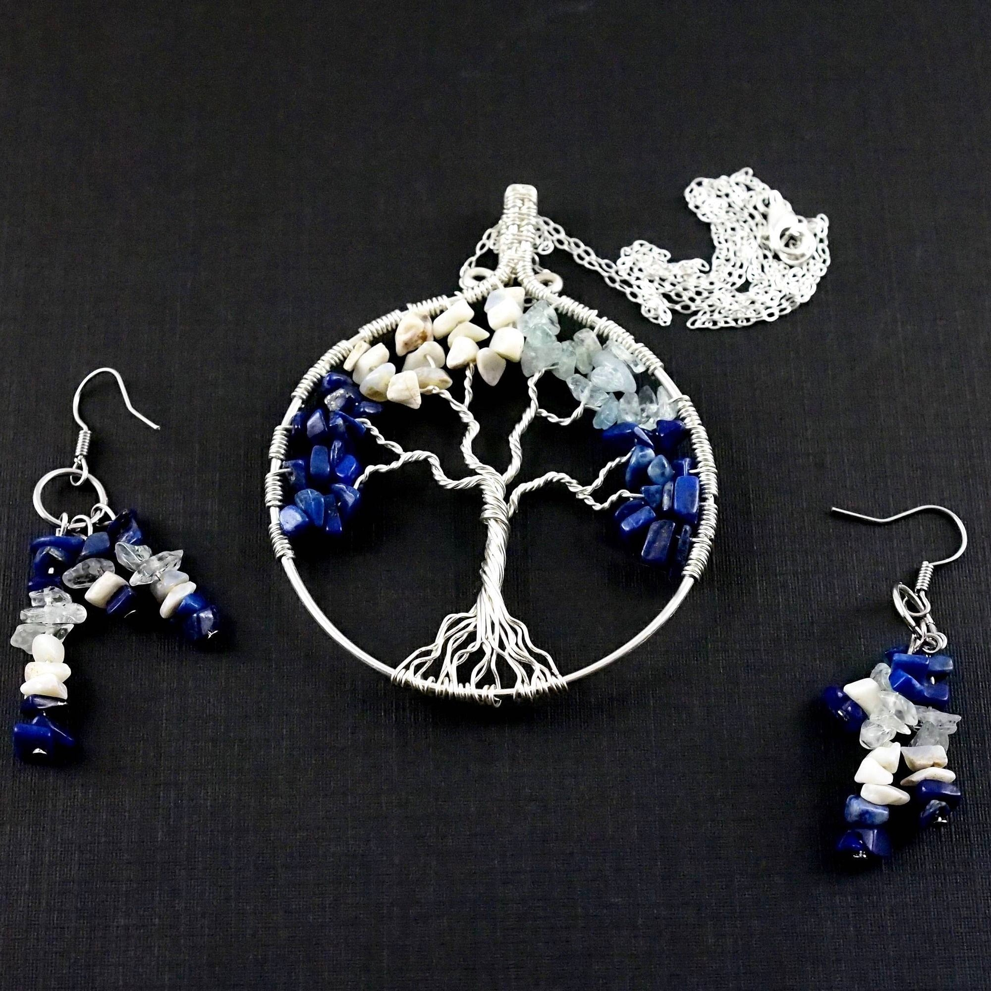 Custom Family Tree Jewelry Set ~ Birthstone Jewelry