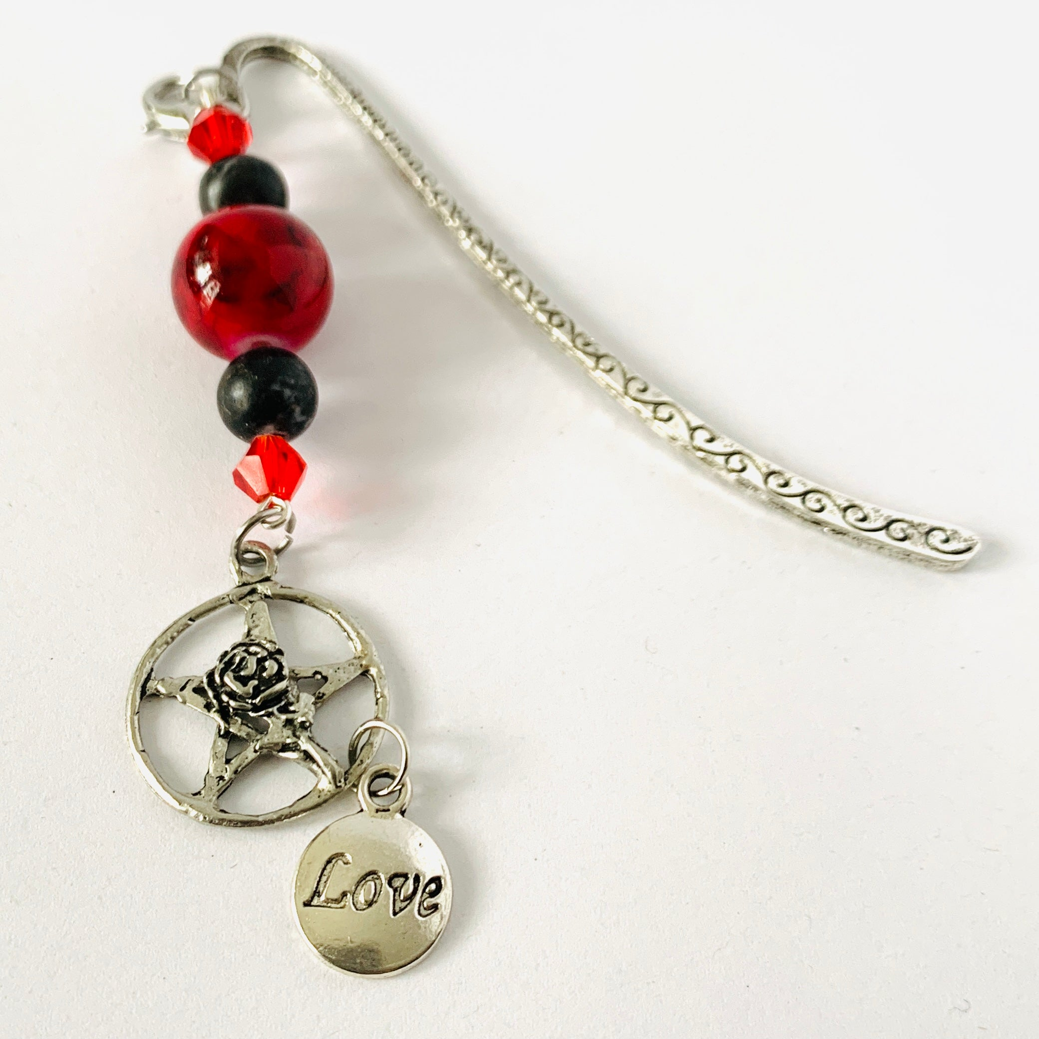 Dark Love ~ Beaded Bookmark