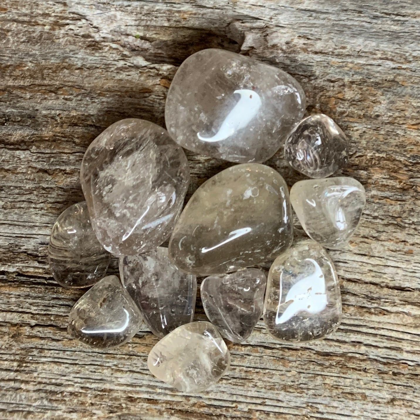 Light Smoky Quartz Tumbled Stones