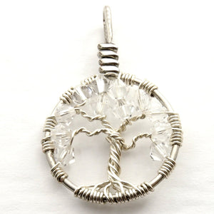 Crystal Tree of Life Pendant ~ April Birthstone