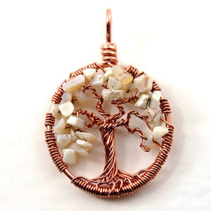 Open image in slideshow, Opal Tree of Life Pendant ~ October Birthstone