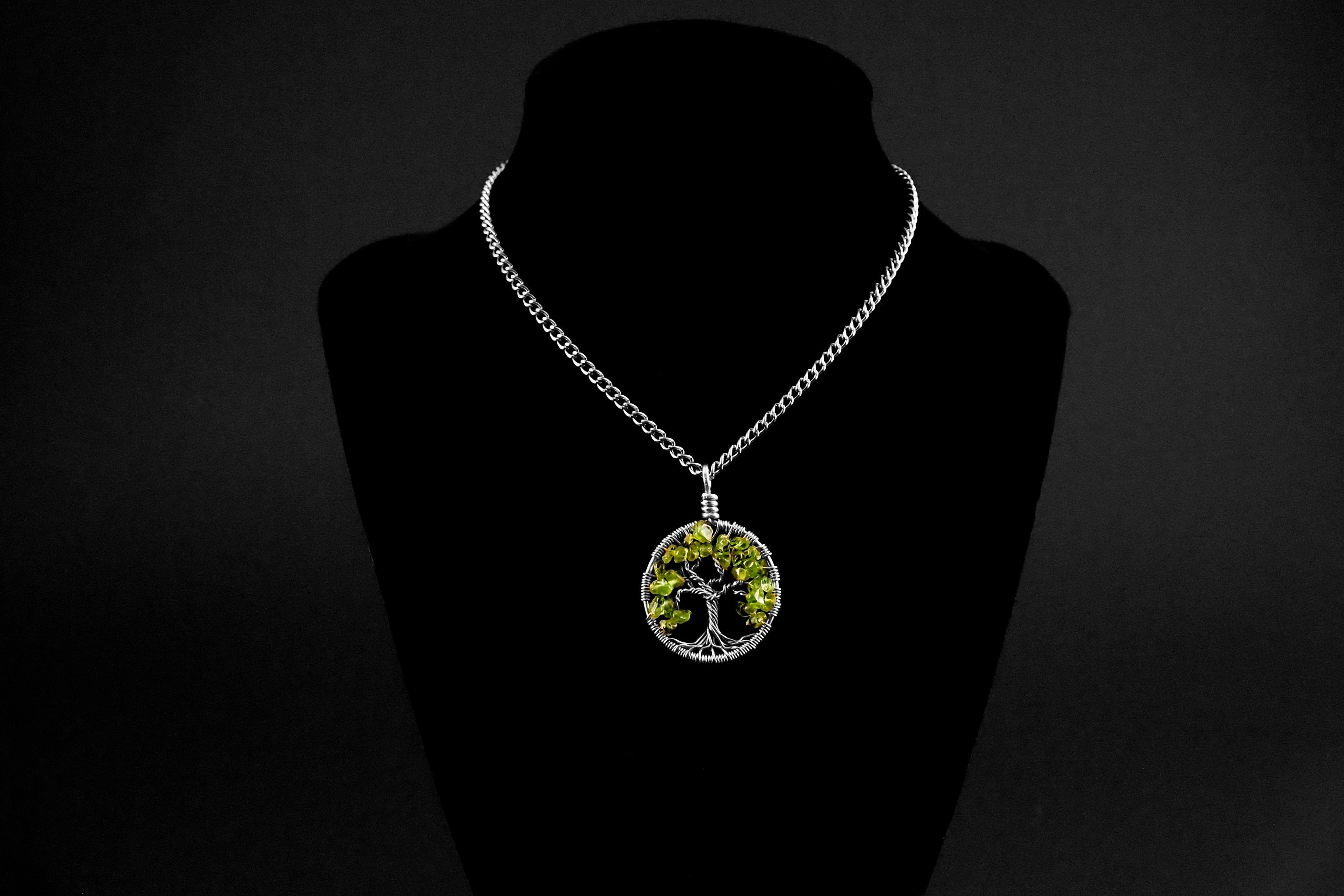 Peridot Tree of Life Pendant ~ August Birthstone