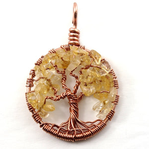 Open image in slideshow, Citrine Tree of Life Pendant ~ November Birthstone