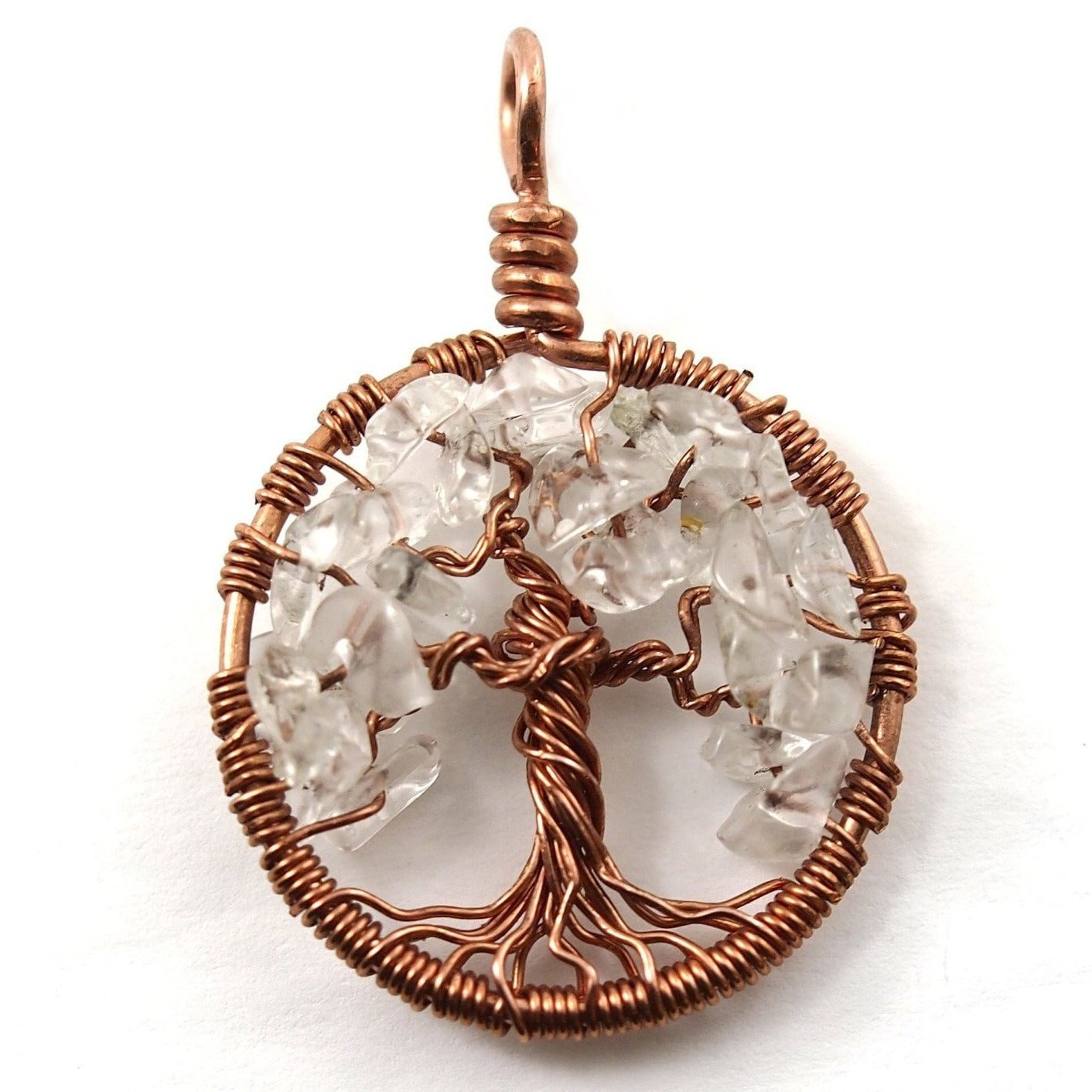 Quartz Tree of Life Pendant ~ April Birthstone