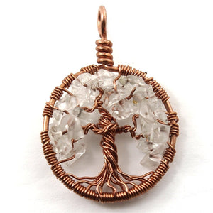 Open image in slideshow, Quartz Tree of Life Pendant ~ April Birthstone