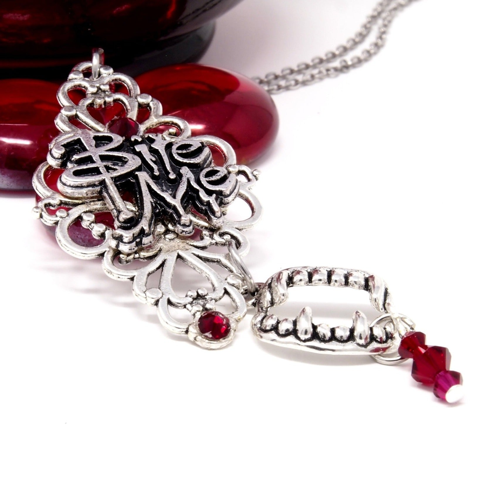 Gothic vampire necklace ~ Halloween costume jewelry
