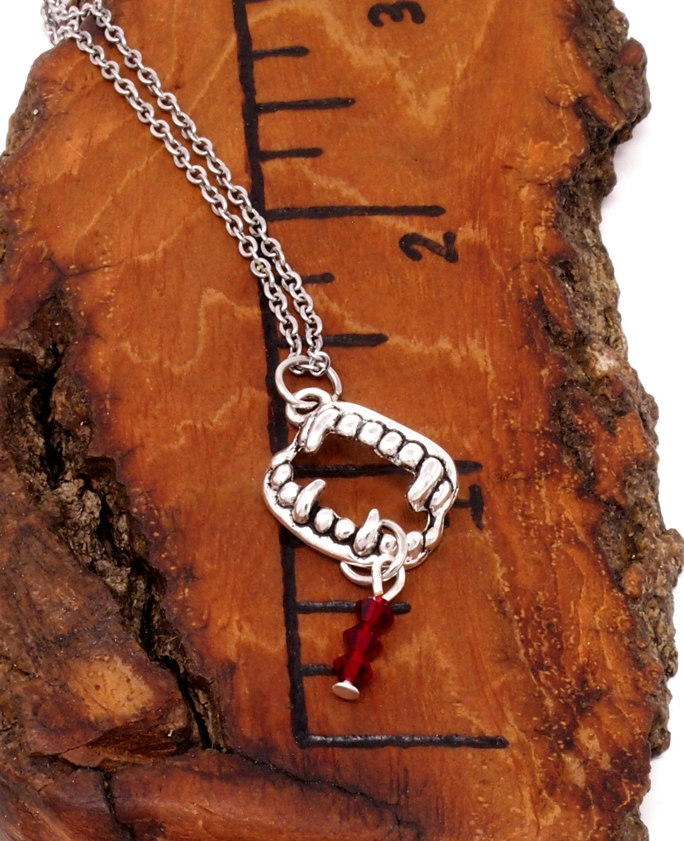 Vampire Fang Necklace ~ Halloween Costume Jewelry