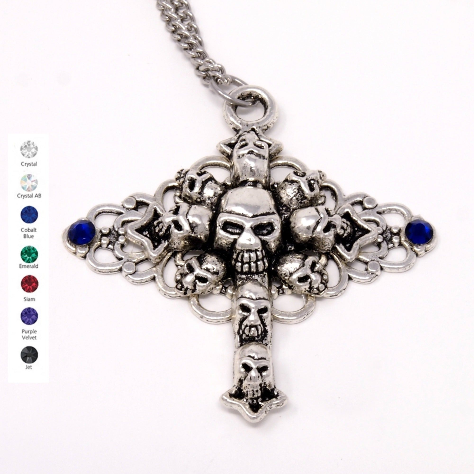 Skull Pendant ~ Gothic Cross Necklace