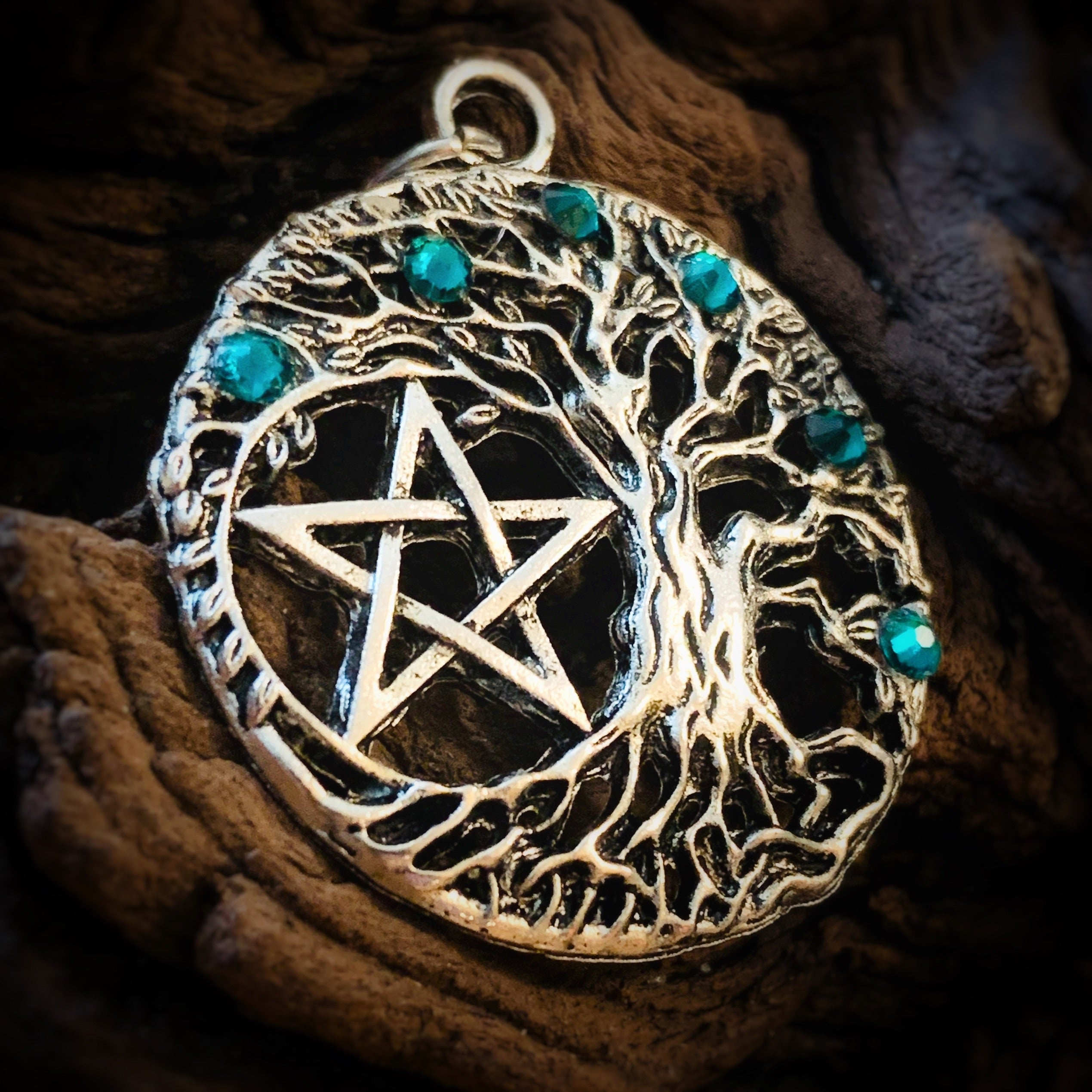 Tree of Life Pentagram Pendant
