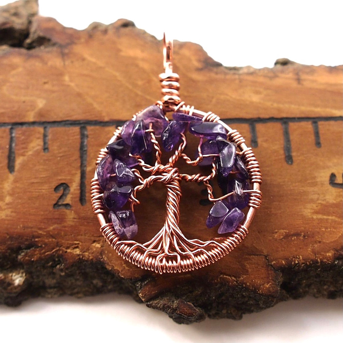 Amethyst Tree of Life Pendant ~ February Birthstone