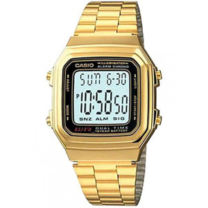 Casio Watch for Women A178WGA-1ADF Gold Stainless .