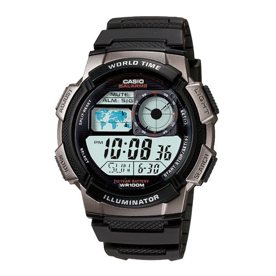 CASIO-AE-1000W-1BVSDF-BLACK WATCH FOR MEN