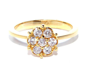 Rosa Diamond Ring - Yellow Gold