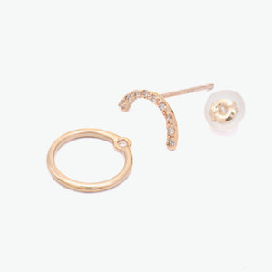 Maru Yellow Gold Diamond Detachble Earring