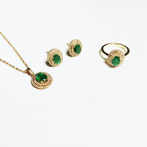 Emerald Celeste Pendant - Yellow Gold