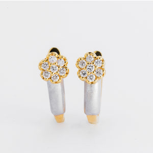 Dahlia Diamond Earrings- Yellow Gold