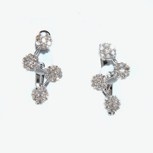 Azalea Diamond Earrings - White Gold