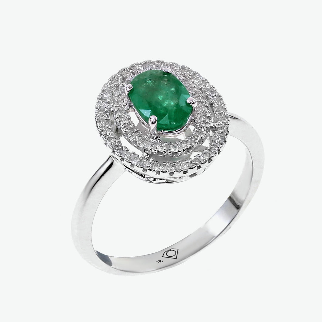Emerald Celeste Ring - White Gold