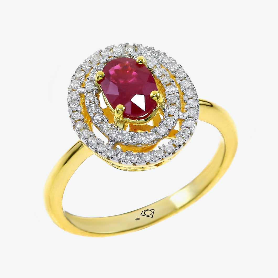 Ruby Celeste Ring - Yellow Gold