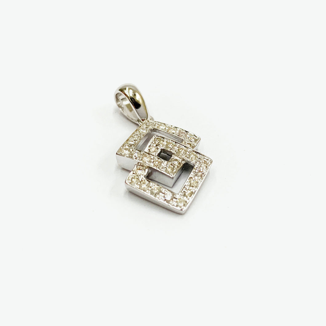 Audrey Diamond Pendant - White Gold