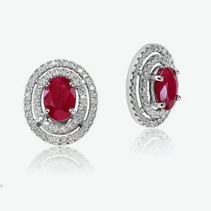 Ruby Celeste Earrings - White Gold