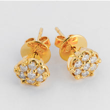 Load image into Gallery viewer, Rosa Diamond Earrings - Yellow Gold