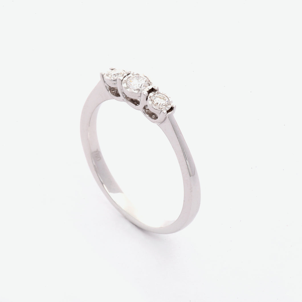 Anya 3-Stone Diamond Ring