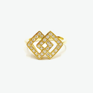 Audrey Diamond Ring - Yellow Gold