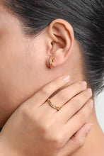 Load image into Gallery viewer, Serene Wave Diamond Earrings - Yellow Gold