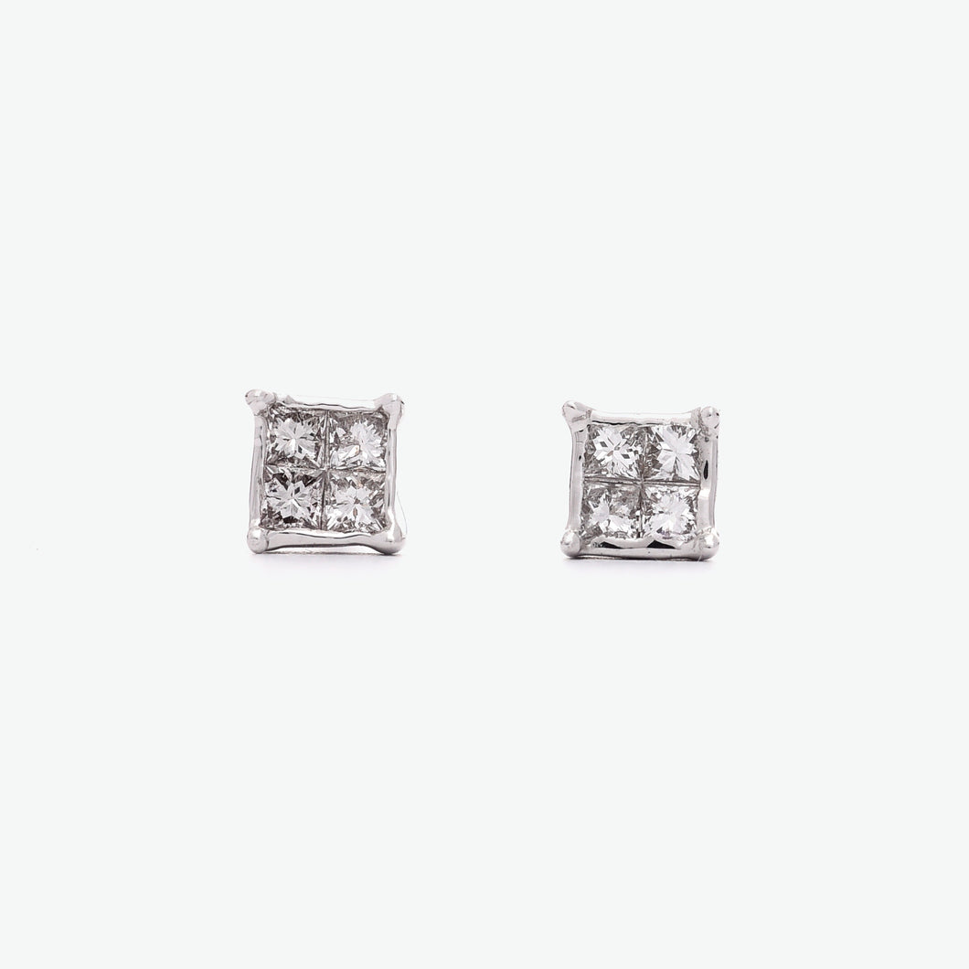 Karina Square Diamond Earrings
