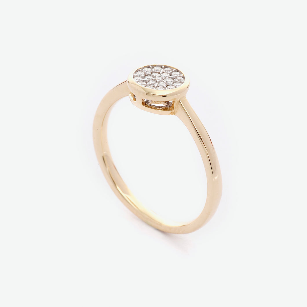 Queen Illusion Diamond Ring - Yellow Gold