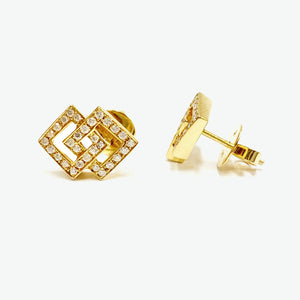 Audrey Diamond Earrings - Yellow Gold