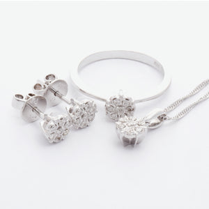 Rosa Diamond Pendant X1 - White Gold