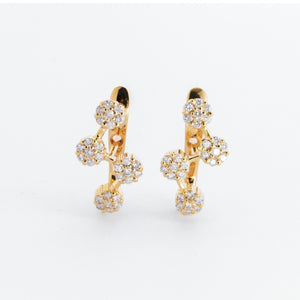 Azalea Diamond Earrings - Yellow Gold