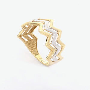 Zenaida Tri-Color Gold Ring